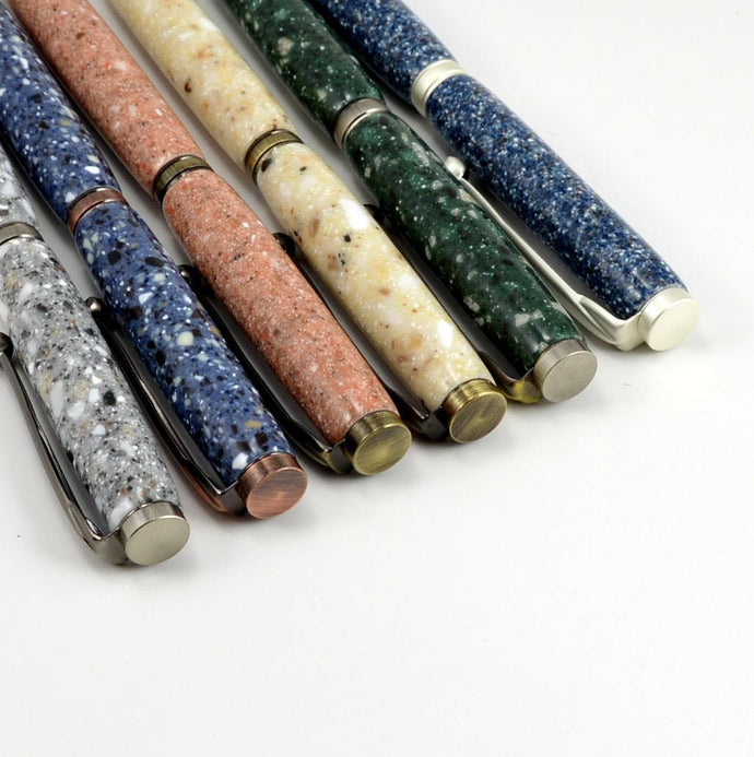 Handcrafted Recycled Corian Ballpoint Pen - 5 Colors Available - 4 Finishes Available