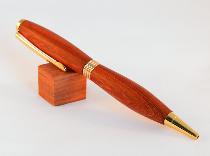 Padauk Pen with 24kt Gold Fittings - Whidden's Woodshop