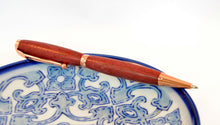 Purpleheart Pen with Copper Fittings - Whidden's Woodshop