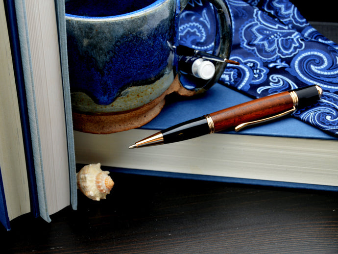 Cocobola Koa Pen with 24kt Gold Fittings - Whidden's Woodshop