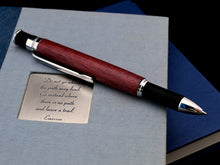 Purpleheart Goncalo Alves Pen with Chrome Fittings - Whidden's Woodshop