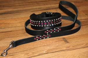 "Matching Crystal Leash - 3/4"" and 1"""