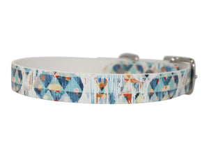 abstract dog collar, waterproof dog collar, biothane dog collar