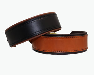 custom leather dog collar with padding