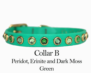 "Premade Limited Fern Green 1/2"" Collars"