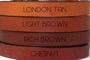 "1/2"" London Tan Leather Leash"