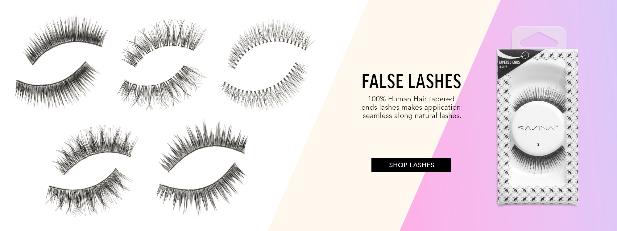 Kasina False Lashes - 100% Human Hair