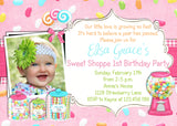 Sweet Candy Girl Birthday Invitation - 3peasprints