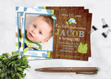Rustic Little Fisherman Boy Birthday Invitation - 3peasprints