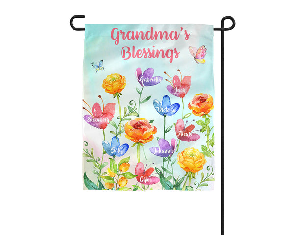 Personalized Grandma's Garden Flag - 3peasprints