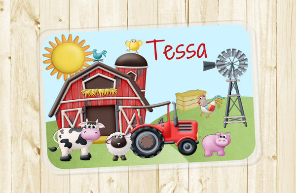 Down On The Farm Personalized Placemat - 3peasprints