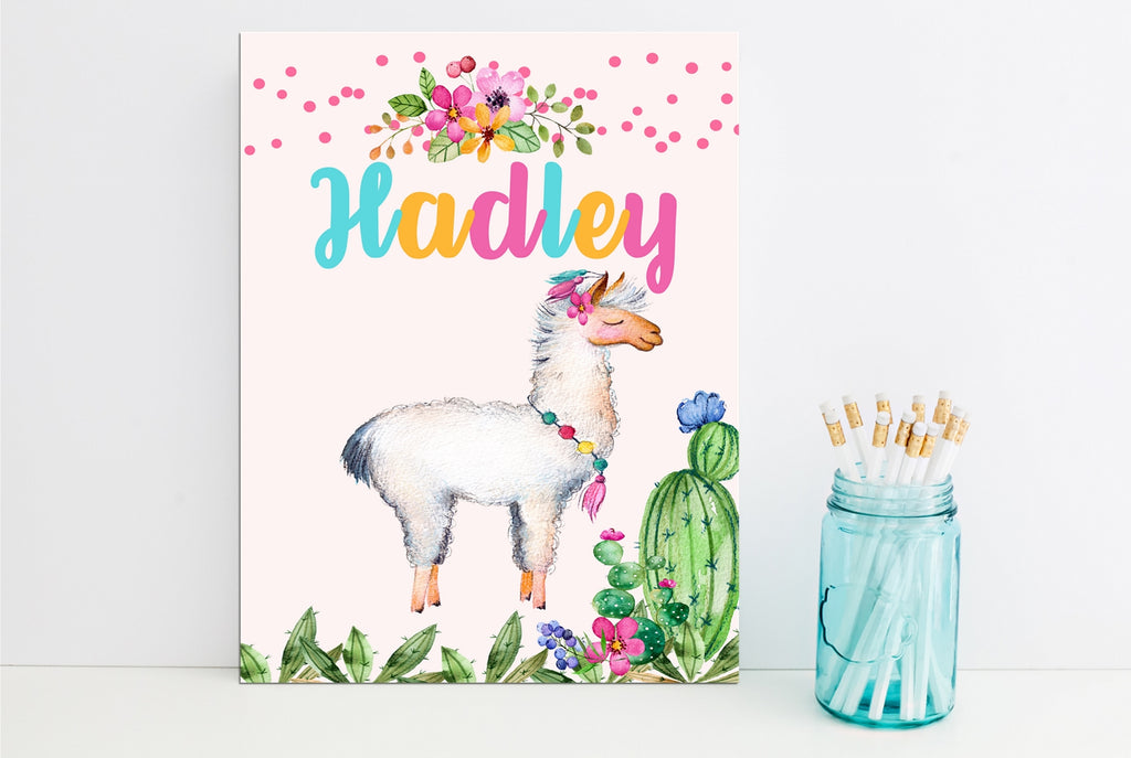Llama Fun Personalized Folder - 3peasprints