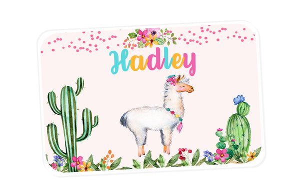 Llama Personalized Placemat - 3peasprints