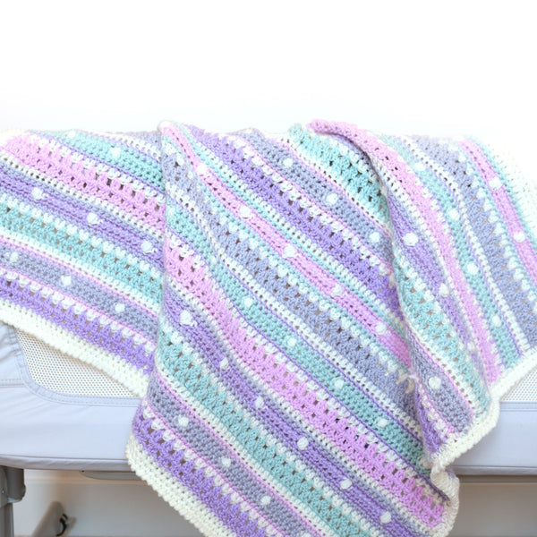 Bobble Stripe Blanket Pattern