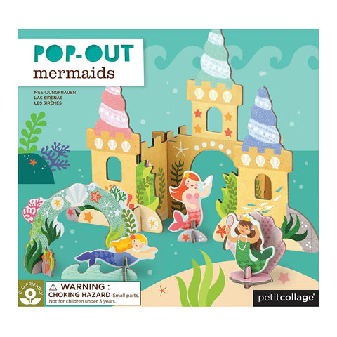 Pop out and Build Mermaid Castle Playset