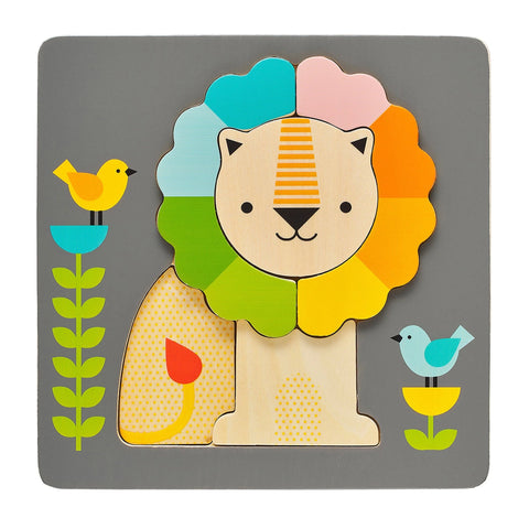 chunky lion wood tray puzzle