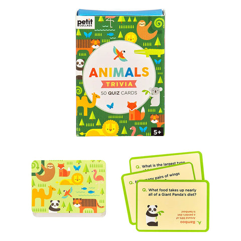 Animal Trivia Quiz Cards