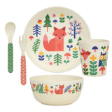 petit collage bamboo 5pc mealtime dinnerware set