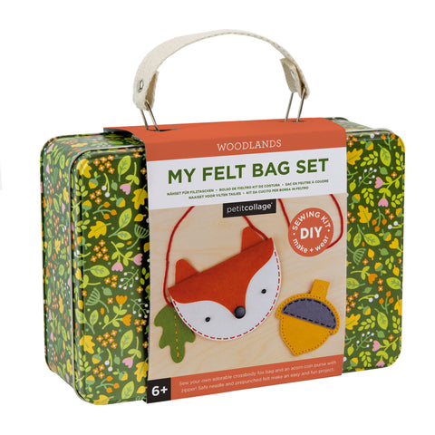 petit collage diy felt fox bag and coin purse set