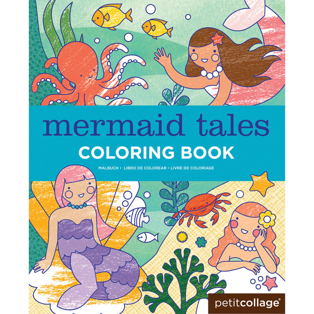 petit collage mermaid tales coloring book