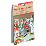 petit collage craft color holiday fun paper doll chain package