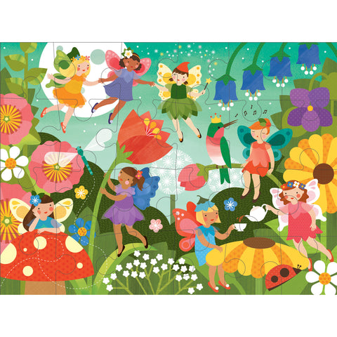 petit collage fairy garden floor puzzle
