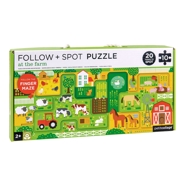 petit collage farm follow and spot puzzle