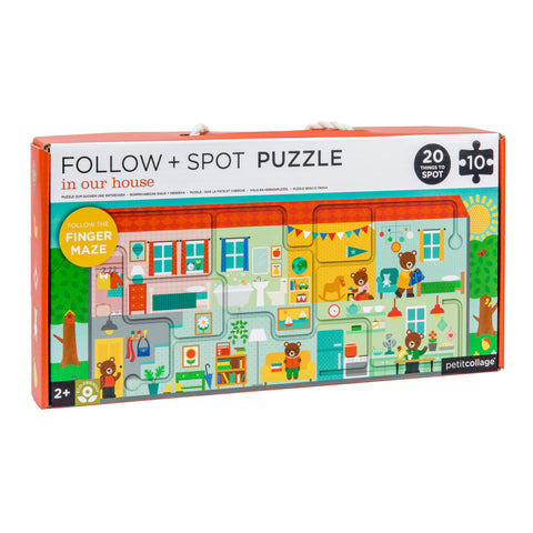 petit collage house follow and spot puzzle