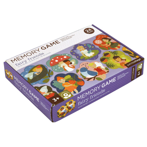 Petit Collage shaped fairy friends memory matching game box