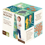petit collage ocean animals a to z counting nesting blocks box