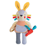 busy bunny organic activity doll - pink