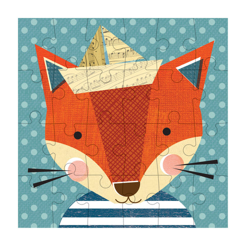 petit collage fox petit puzzle 24 pcs detail