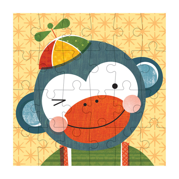 petit collage monkey petit puzzle 24 pcs detail