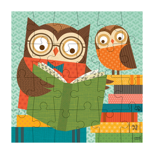 petit collage reading owls petit puzzle 24 pcs detail