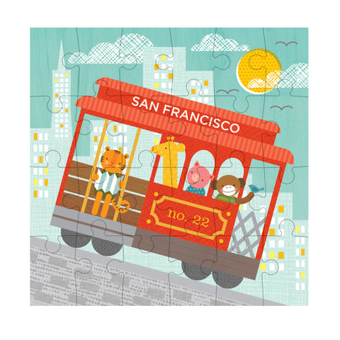 petit collage san francisco trolley petit puzzle 24 pcs detail