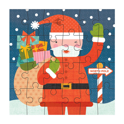 petit collage santa petit puzzle 24 pcs detail
