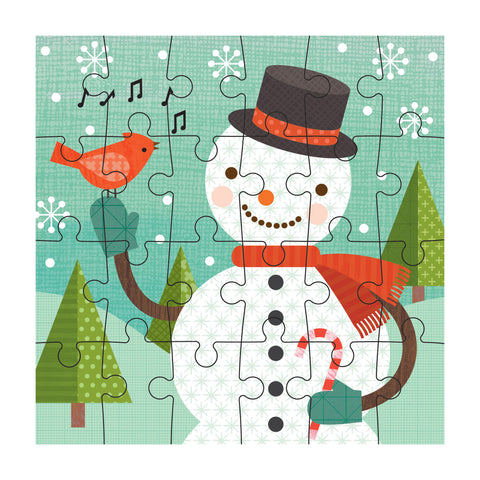 petit collage snowman petit puzzle 24 pcs detail