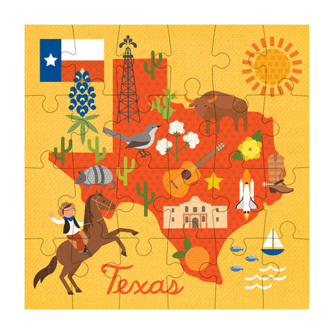 petit collage texas map petit puzzle 24 pcs detail