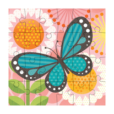 petit collage butterfly petit puzzle 24 pcs detail