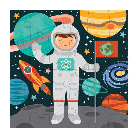 petit collage astronaut petit puzzle 24 pieces