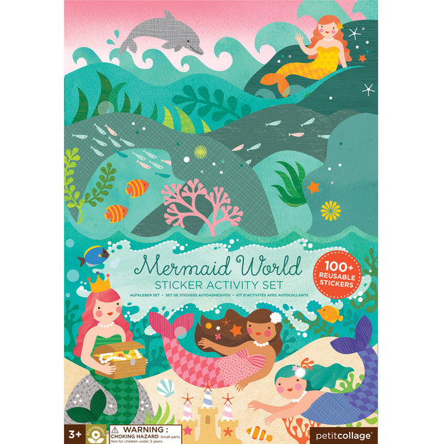 petit collage mermaid sticker activity set