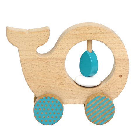Wooden Whale Push Along Toy