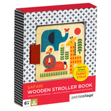 Petit Collage wooden stroller book