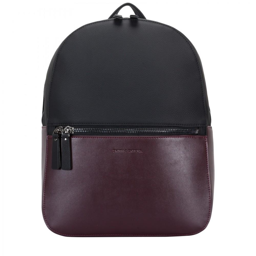 Рюкзак Smith & Canova 92901 Francis (Black-Burgundy)