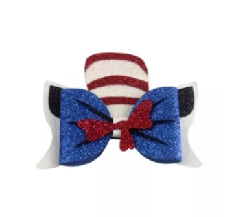 Dr Seuss Cat In the Hat Hair Bow
