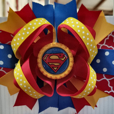 Superman Hairbow