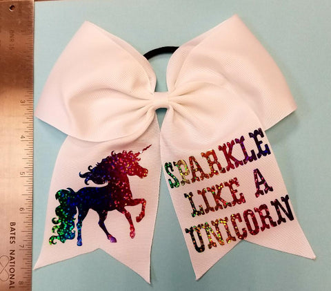 Unicorn Cheer Bow - Hairbow Heaven of Bossier City