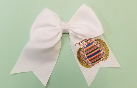 Pumpkin Cheer Bow