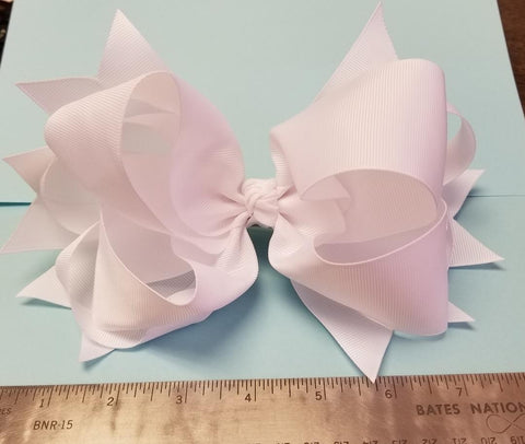 White Large Bow