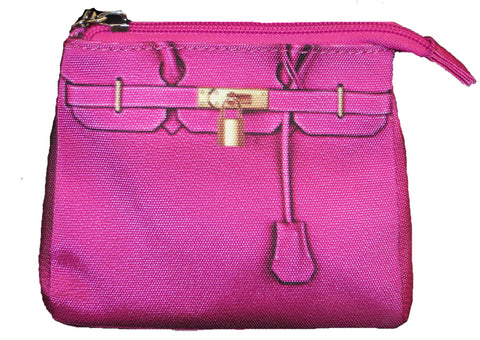 Tali Cosmetic Pouch: Passion Pink